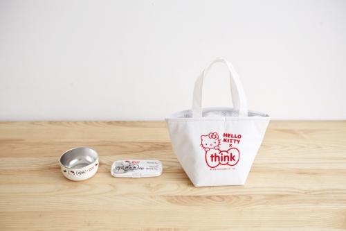 Hello Kitty,Thinkbaby 聯名餐具組,居家,家具與園藝,廚房鍋具餐具用品,兒童餐具,野餐,露營